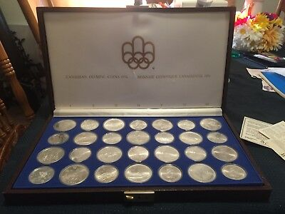 1976 Olympic Canadian Silver Coin Set of 28