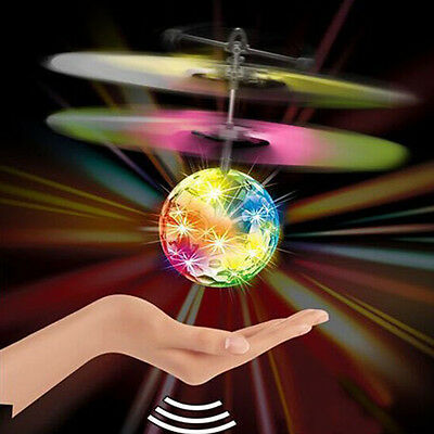 Remote Electric RC Fly Ball Infrared Induction Aircraft Flash LED Light Toy UK