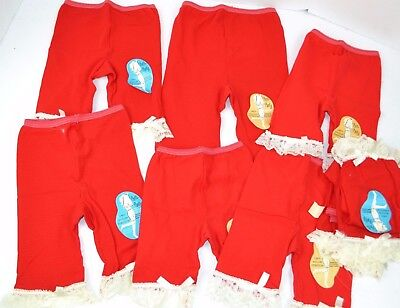 Vtg 1960's Lot of 9 SYLCRAFT Petti-Panty Slips Petticoats RED Girls Asst NOS