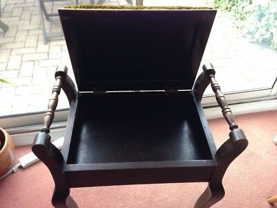 Traditional Wooden Piano Stool with under seat storage