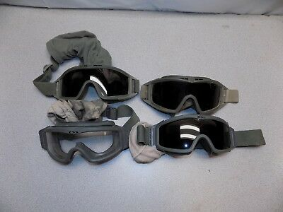 Lot of 4 Revision and ESS US Military Goggle Green ACU Locust