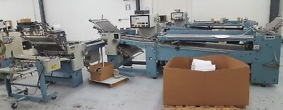 1988 MBO B26 4/4 Batch Counter Continuous Feed Folder with Pafra TCU Glue Bind