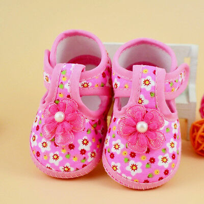 Pink Floral Princess Toddler Baby Infant Shoes Newborn Girls Size S Fashion