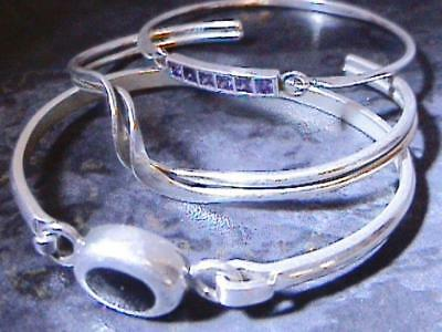Three Vintage Continental 925 Silver Bracelets Jewellery