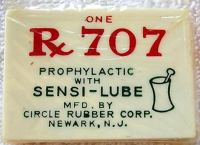 VINTAGE Rx 707 Condom Case With Original Contents Unopened Circle Rubber Corp