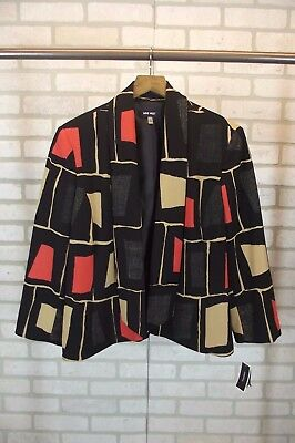 NEW Nine West Womens Blazer Jacket Open Front Size 14 NWT Suit XL Dress Business