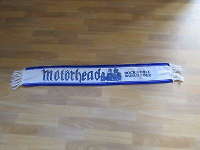 MOTORHEAD Original 1980's Rock n Roll World Tour Scarf with LEMMY in Band Image