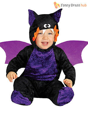 Baby Toddler Bat Costume Childs Halloween Fancy Dress Animal Kids Outfit