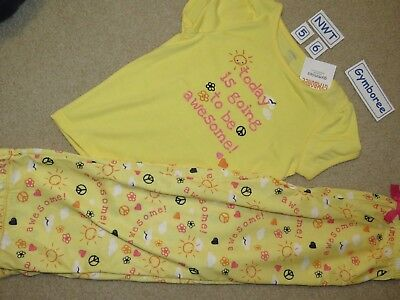 NWT Gymboree Gymmies pajama set - shirt and pants - sunshine yellow - size 5-6