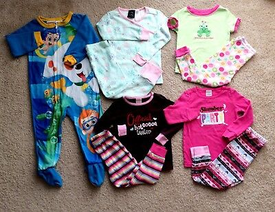Toddler Girls 24 Months 2T Fall Winter Pajama Sets Clothes Lot **Free Shipping**