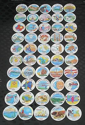 50 Colorized State Quarters 1999-2008 - White Paint - U.S. Coin Collection Set