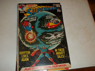 Superman Vol 1 # 232--64 page giant--6 different stories--1970--Fine + Condition