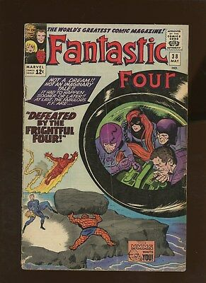 Fantastic Four 38 GD/VG 3.0 * 1 Book Lot * FF Vs the Frightful Four! Jack Kirby!