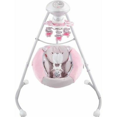 Fisher-Price My Little Snugabear Cradle 'n Swing 2 Motion Soothe Baby , Pink