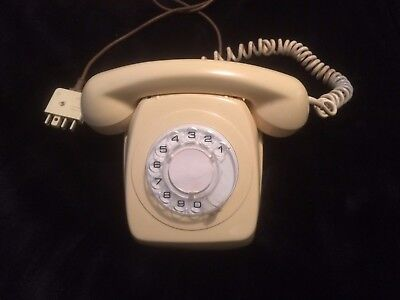 Telephone phone Rotary Dial Vintage Retro fone Antique old, working condition