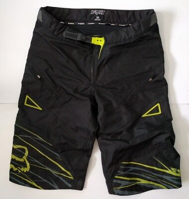Fox Racing Motocross Shorts Heavy Duty Cargo Size 34 Men's Black Buckle