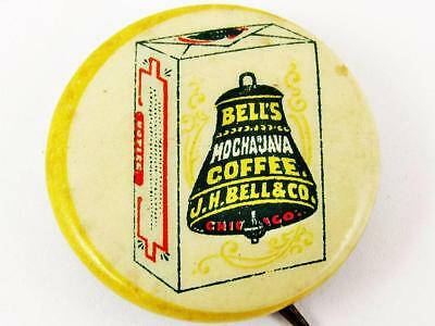 Vintage J.c. Bell & Co. Mocha Java Coffee Advertising Celluloid Pin Button