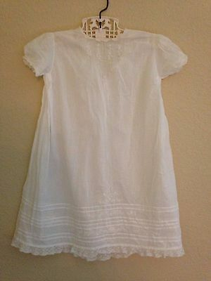 Vintage Baby Dress Baptism Dress~Lace/Embroidery Detail Christening Gown~Doll?