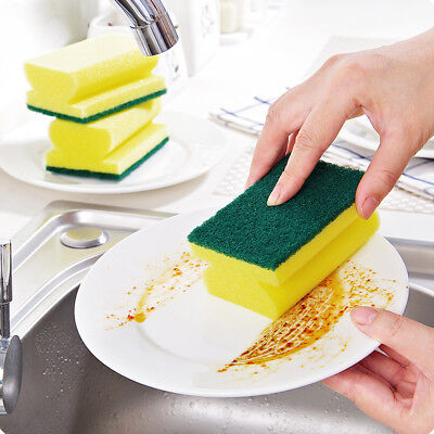 "New 5"" Durable Cleaning Sponge Brush Wash Bowl Dishes Good Washing Kitchen Tool"