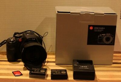 Used Leica V-LUX 4 12.1MP Digital Camera - Black w/ Extra Battery and 32GB Card