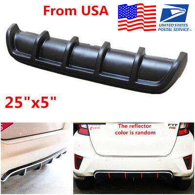 "25""x5"" Universal Car Rear Shark Fin Style Add on Bumper Lip Diffuser Protector"