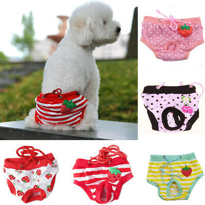 New Female Pet Dog Puppy Diaper Pants Physiological Sanitary Short Panty S M L