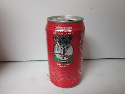 1987 Coca-Cola 1924 Olympic Winter Games Chamonix, France soda can.
