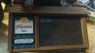 Classic vintage Hamm's Scene-O-Rama Waterfall/Camping Motion Beer Sign