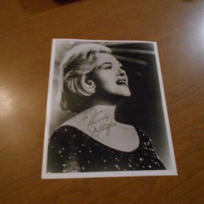 Jo Stafford was an American traditional pop music singer Hand Signed Photo