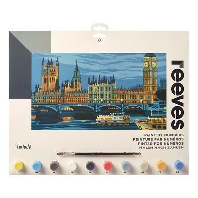 Reeves Large Houses of Parliament Painting By Numbers Set Paint & Brush Kit