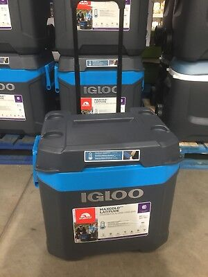 Igloo MaxCold Island Breeze 62 Quart 58L Rolling Cool Box Ice Cooler 6 Days BNIB