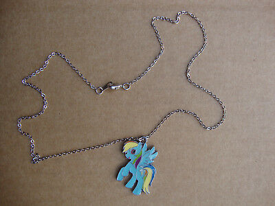 "My Little Pony ""Rainbow Dash"" charm & Silver plated 18"" necklace & lobster clasp"