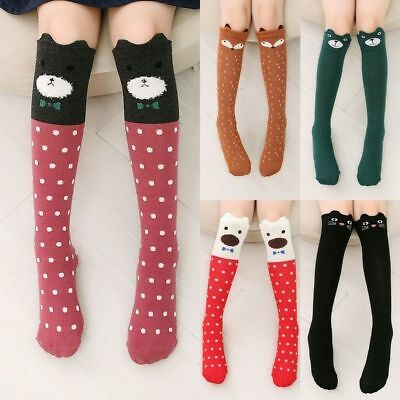 Girls Lovely 3D Cartoon Animal Thigh Stockings Over Knee High Long Socks CU