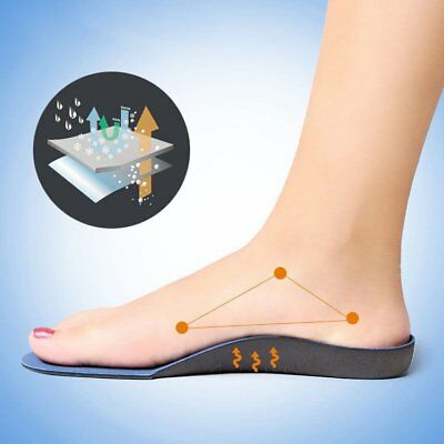 Orthotic Flat Foot Arch Support Cushion Shoe Insoles Heel Pain Relief Inserts CU
