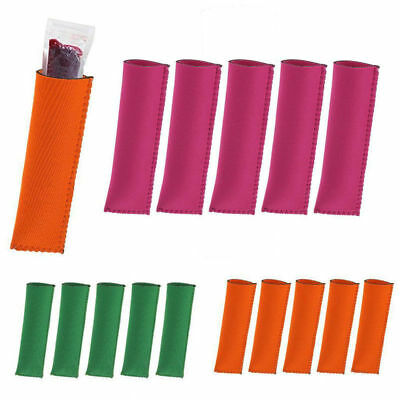 1/5X Neoprene Popsicle Holder Ice Pop Grips Ice Lolly Holders Icy Pole Protector