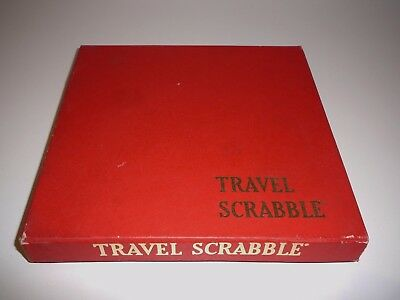 Vintage Travel Scrabble Board Game Australian Made circa 1950 Complete