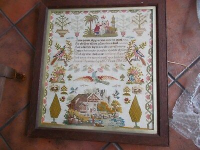 Victorian Sampler By Young  Girl Jemma Newman 1862