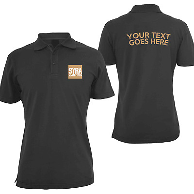 Personalise Custom Design and Print Company Business Events Sports Polo Shirts