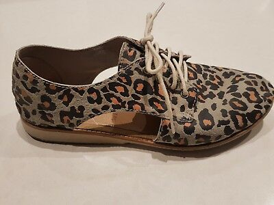 Rollie Ladies Leopard Print sidecut Shoes size 37