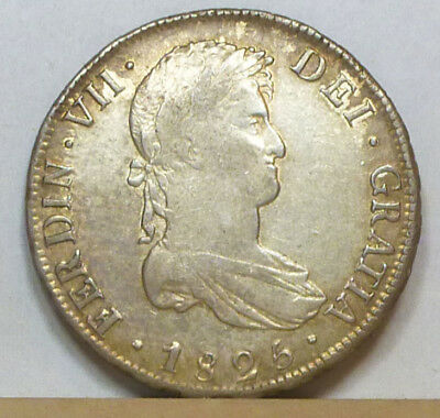Bolivia 8 Reales 1825 PTS-JL About Extremely Fine NO RESERVE