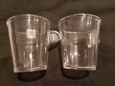 Nespresso Polycarbonate Cups (x 2) Made in Germany