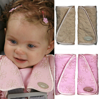 1Pair Baby Car Seat Belt Strap Cover Pads Pram Highchair Auto Shoulder Protector