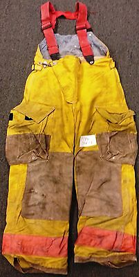 34x28 Firefighter Pants With Suspenders Bunker Turnout  Fire Gear - Globe P599