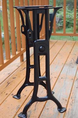 Cast iron Legs Table Base Machine Age Industrial Steampunk NOT kenney / chandler