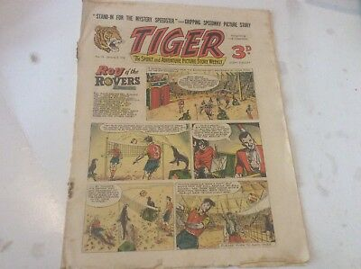Early Tiger comic No 70 Jan 7th 1956 Roy of the Rovers