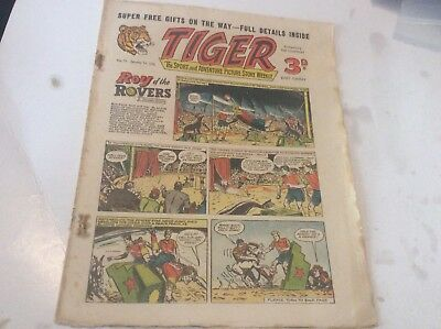 Early Tiger comic No 71 Jan 14th  1956 Roy of the Rovers