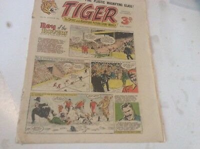 Early Tiger comic No 73 Jan 28th 1956 Roy of the Rovers