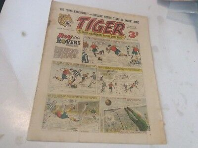 Early Tiger comic No 74 Feb 4th 1956 Roy of the Rovers