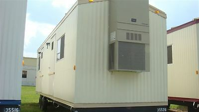 New Mobile Modular Double Office Trailer With Bathroom 8'X 28'