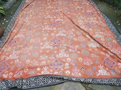 Large Indian Cotton Embroidered Wall Hanging/throw